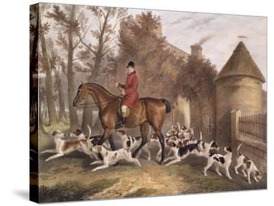 W. Sebright, Huntsman to the Milton Hounds, Engraved by J.W. Giles, 1839-Richard Barrett Davis-Stretched Canvas Print