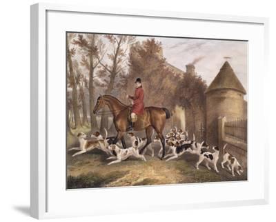 W. Sebright, Huntsman to the Milton Hounds, Engraved by J.W. Giles, 1839-Richard Barrett Davis-Framed Giclee Print