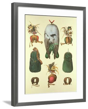 Equipment for Falconry, from 'traite De Fauconnerie' by H. Schlegel and A.H. Verster De…- Wouw Portman & Van-Framed Giclee Print
