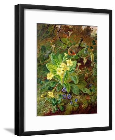 Primrose and Robin-William John Wainwright-Framed Giclee Print