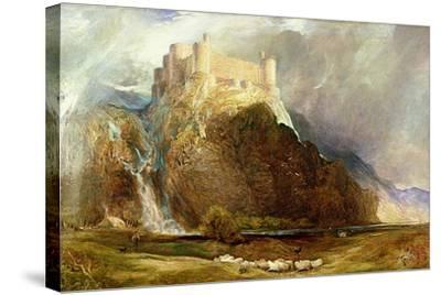 Harlech Castle: Four Square to All the Winds That Blow-Henry Clarence Whaite-Stretched Canvas Print