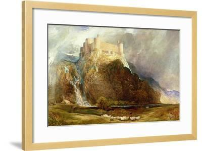Harlech Castle: Four Square to All the Winds That Blow-Henry Clarence Whaite-Framed Giclee Print