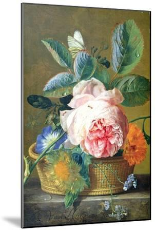 A Basket with Flowers, 1740-45-Jan van Huysum-Mounted Giclee Print