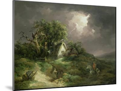 The Coming Storm, Isle of Wight, 1789-George Morland-Mounted Giclee Print