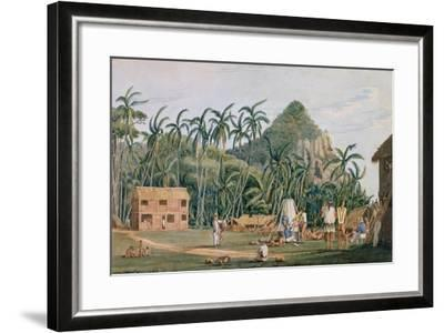 T1231 a View of the Village at Pitcairn Island, December 1825-Admiral William Henry Smyth-Framed Giclee Print