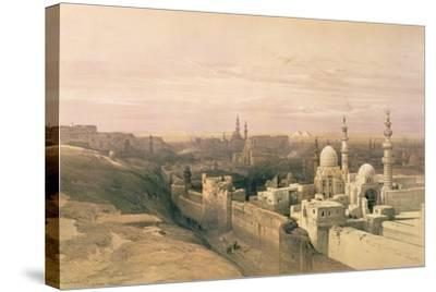 """Cairo, Looking West, Book Illustration from """"Sketches in Nubia"""", 1846-49-David Roberts-Stretched Canvas Print"""