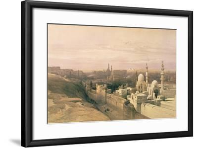 """Cairo, Looking West, Book Illustration from """"Sketches in Nubia"""", 1846-49-David Roberts-Framed Giclee Print"""