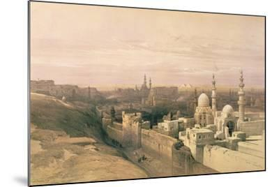 """Cairo, Looking West, Book Illustration from """"Sketches in Nubia"""", 1846-49-David Roberts-Mounted Giclee Print"""