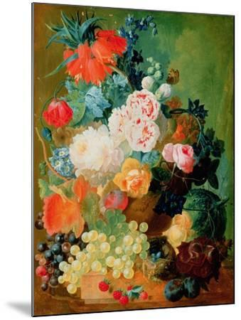 Still Life with Fruit, Flowers and Bird's Nest-Jan van Os-Mounted Giclee Print