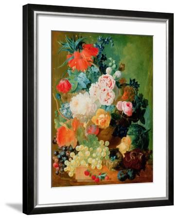 Still Life with Fruit, Flowers and Bird's Nest-Jan van Os-Framed Giclee Print