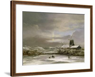Winter Landscape-Jacob Isaaksz^ Or Isaacksz^ Van Ruisdael-Framed Giclee Print