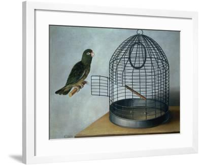 Parrot Outside His Cage-Cornelis Biltius-Framed Giclee Print