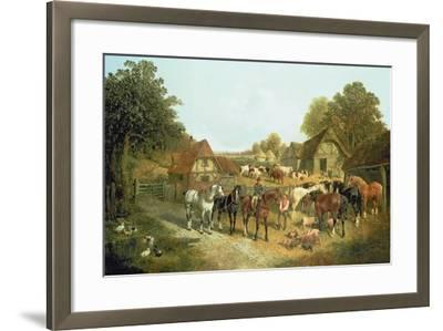 An English Homestead-John Frederick Herring I-Framed Giclee Print