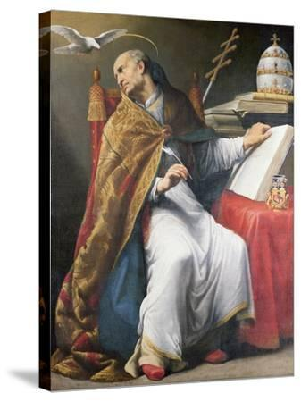St. Gregory-Andrea Sacchi-Stretched Canvas Print