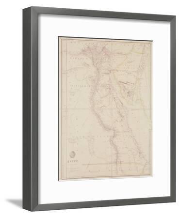 Map of Egypt, 1832-John Arrowsmith-Framed Giclee Print