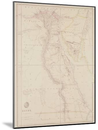Map of Egypt, 1832-John Arrowsmith-Mounted Giclee Print