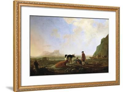 Herdsmen with Cows, C.1645-Aelbert Cuyp-Framed Giclee Print