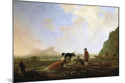 Herdsmen with Cows, C.1645-Aelbert Cuyp-Mounted Giclee Print