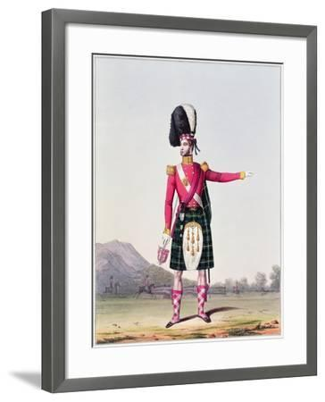 """An Officer of the 92nd Highland Regiment of Foot from Spooner's Upright Series of """"Costume of the…--Framed Giclee Print"""