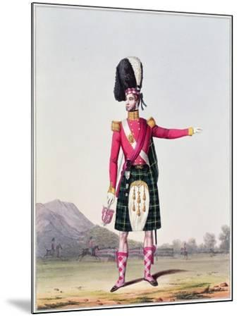 """An Officer of the 92nd Highland Regiment of Foot from Spooner's Upright Series of """"Costume of the…--Mounted Giclee Print"""