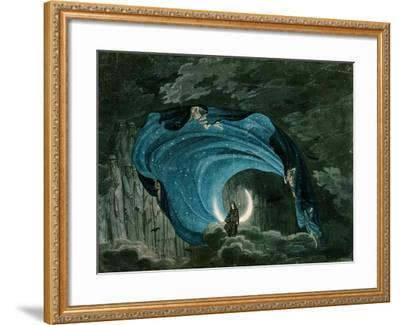 Setting for the Appearance of Astrofiammante, Queen of the Night, from Mozart's 'Magic Flute',…--Framed Giclee Print