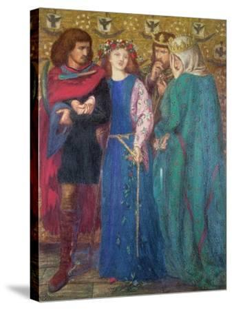 Horatio Discovering the Madness of Ophelia-Dante Gabriel Rossetti-Stretched Canvas Print