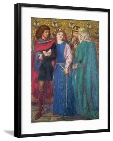 Horatio Discovering the Madness of Ophelia-Dante Gabriel Rossetti-Framed Giclee Print