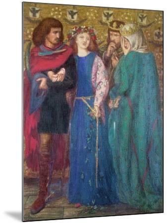 Horatio Discovering the Madness of Ophelia-Dante Gabriel Rossetti-Mounted Giclee Print