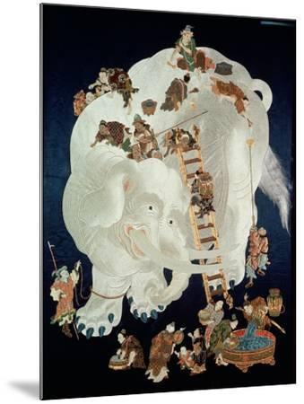 Chinese Washing a White Elephant, Gift Cover, 1800-50--Mounted Giclee Print
