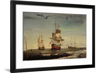 The Whaling Fleet of Sir Samuel Standidge, Hull School of Painting, 1769--Framed Giclee Print