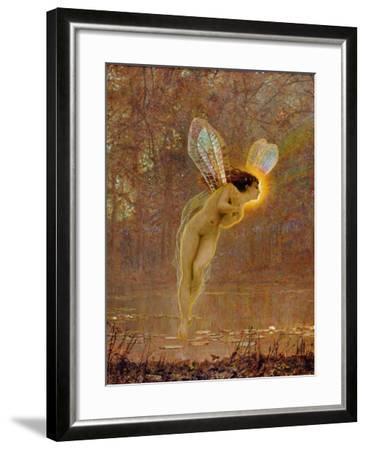 Iris, Detail of the Fairy, 1886 (Detail)-John Atkinson Grimshaw-Framed Giclee Print