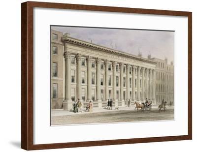 The Royal Institution of Great Britain, Albemarle Street, C.1838-Thomas Hosmer Shepherd-Framed Giclee Print