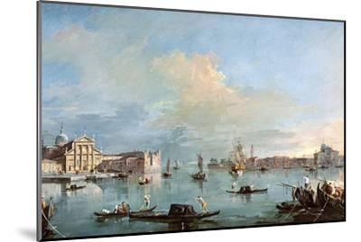 San Giorgio Maggiore-Francesco Guardi-Mounted Giclee Print