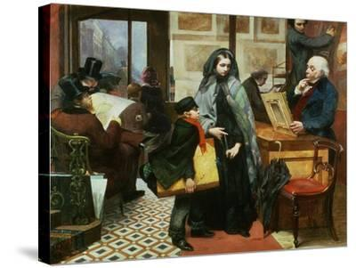 Nameless and Friendless, 1857-Emily Mary Osborn-Stretched Canvas Print