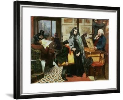 Nameless and Friendless, 1857-Emily Mary Osborn-Framed Giclee Print