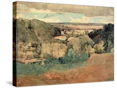Barnard Castle from Towler Hill-John Sell Cotman-Stretched Canvas Print