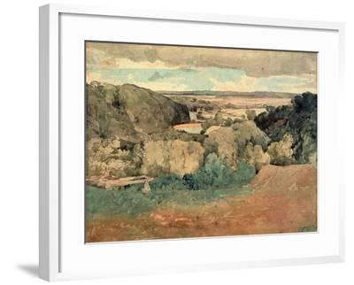 Barnard Castle from Towler Hill-John Sell Cotman-Framed Giclee Print