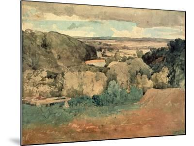 Barnard Castle from Towler Hill-John Sell Cotman-Mounted Giclee Print
