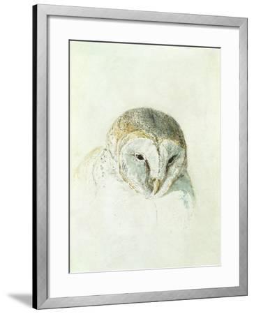 White Barn Owl, from the Farnley Book of Birds, C.1816-J^ M^ W^ Turner-Framed Giclee Print