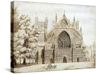 Exeter Cathedral, West Front--Stretched Canvas Print
