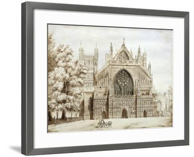 Exeter Cathedral, West Front--Framed Giclee Print