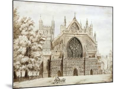 Exeter Cathedral, West Front--Mounted Giclee Print