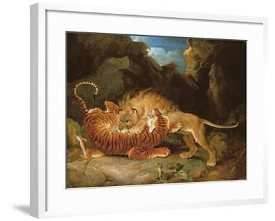 Fight Between a Lion and a Tiger, 1797-James Ward-Framed Giclee Print