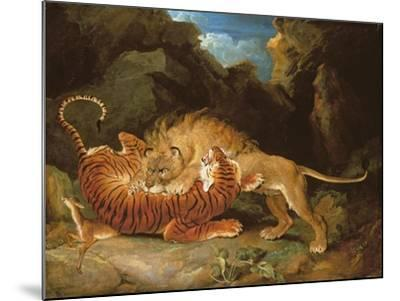 Fight Between a Lion and a Tiger, 1797-James Ward-Mounted Giclee Print