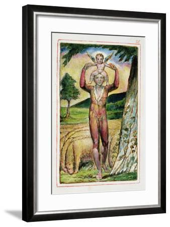 Frontispiece to Songs of Experience: Plate 28 from Songs of Innocence and of Experience C.1815-26-William Blake-Framed Giclee Print