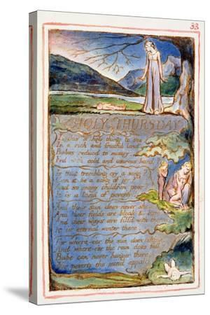 Holy Thursday: Plate 33 from Songs of Innocence and of Experience C.1815-26-William Blake-Stretched Canvas Print