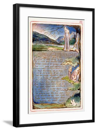 Holy Thursday: Plate 33 from Songs of Innocence and of Experience C.1815-26-William Blake-Framed Giclee Print
