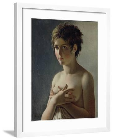Portrait of a Young Girl, 1812-Baron Pierre-Narcisse Guerin-Framed Giclee Print