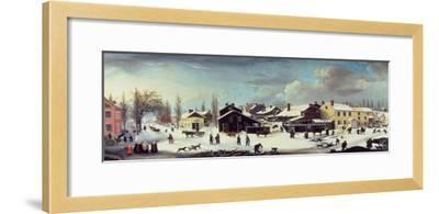 Winter Scene in Brooklyn, C.1817-Louisa Ann Coleman-Framed Giclee Print