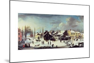 Winter Scene in Brooklyn, C.1817-Louisa Ann Coleman-Mounted Giclee Print